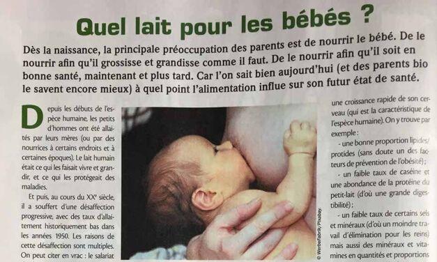 Du lait humain pour les petits humains