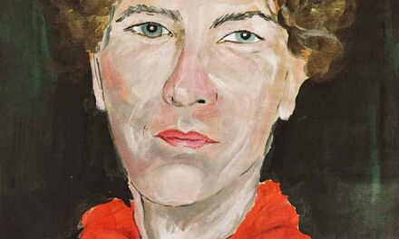 Autoportrait au foulard rouge